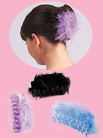 lot de 3 pince cheveux plumes bleu violet noir chouchou barrette girly in v 234 tements accessoires
