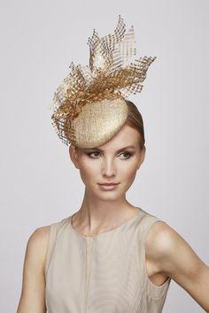Ivory Gold Tail Hat Juliette Botterill Millinery Ss 2017