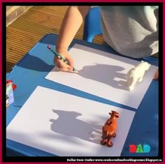 Dollar Store Crafter: Use Dollar Store Toys As 'shadow templates' ~ Kid'...