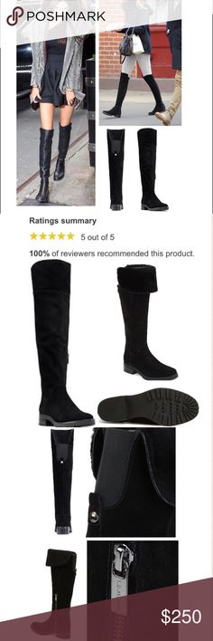 """MK Over the Knee Suede Riding Boots Details🔍 *Water Resistant Suede, Over the Knee Thigh high Boots w foldover option into Knee High Boots *Size: 9 (true to size) *Round toe *Side zipper Closure *Hardware Details *Rubber sole; Leather & faux sherpa lining *Retail: $295 w/taxes *Michael Michael Kors *Returning boots to the store if not sold; too big on me. Price is firm all sales are final.   Measurements🔎 Stacked heel 1.5"""" Shaft height 16"""" Leg circumference 13.25"""" [Sabrina Whitaker Follow…"""