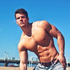Michael Dean, Male Model, Good Looking, Handsome, Beautiful Man, Guy, Dude, Hot, Sexy, Eye Candy, Muscle, Hunk, Abs, Six Pack, Shirtless 男性モデル