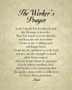 Resultado de imagen para prayer for workplace Prayer Times, Prayer Scriptures, Bible Prayers, Faith Prayer, Catholic Prayers, God Prayer, Prayer Quotes, Power Of Prayer, Prayer For Wisdom