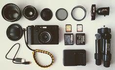 My travel kit ;)  #x100f #fujifilm