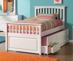 Ticks all the boxes,white, trundler, with storage