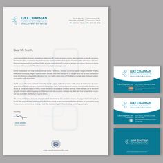 Sleek, contemporary letterhead and stationary for a young, progressive orthodontist. by chandrayaan.creative