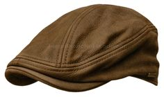 STETSON Leather IVY Cap Mens Gatsby Newsboy Hat Golf Brown Driving Flat S M L XL #STETSON #Ivy