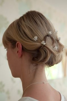 Pretty up do with delicate hair pins by Lovehai, www.lovehair.co.uk