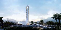 Jianfeng Bridge East Square Landscape Tower by WVA ARCHITECTS Zhuhai China