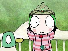 Sarah & Duck (2013)  Maybe I can make Gemma a Pond Princess crown...