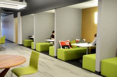 Tour SquareTrade's Unifying Open Plan Offices   California Home + Design - interesting take on meeting rooms