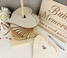 Ask your MC to tell the guests - Build Memories Wedding Guest Book, Custom Wood Wedding Decoration, Engraved Wedding Accessories, Heart Wedding Guestbook Alternative, Tower - Eleturtle Wedding Book, Wedding Favors, Diy Wedding, Wedding Invitations, Dream Wedding, Wedding Day, Trendy Wedding, Wedding Dresses For Guests, Classy Wedding Ideas