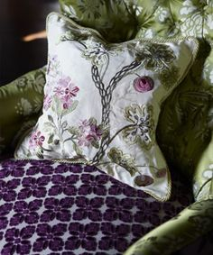 Pillow fabric is awesome in real life, from Designer's Guild Royal Collection