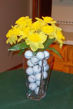 Golf Balls Found in the Flowers