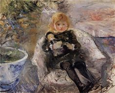 Young Girl with Doll - Berthe Morisot, 1884