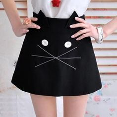 Buy 'Dabuwawa – Cat-Print Miniskirt' with Free Shipping at YesStyle.co.uk. Browse and shop for thousands of Asian fashion items from China and more!