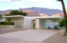Steel Mid-Century Modern House Palm Springs.