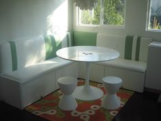 From Ikea Hackers: use Ikea kitchen wall cabinets as the base/seating of banquette for seating and storage. Then, cover with cushion and pillows From Ikea Hackers: use Ikea… Ikea Kitchen Wall Cabinets, Kitchen Ikea, Kitchen Banquette, Banquette Seating, Kitchen Benches, Dining Nook, Kitchen Nook, Ikea Kitchens, Kitchen Seating