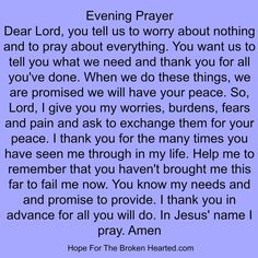 Evening Prayer Prayer Times, Prayer Scriptures, Bible Prayers, Faith Prayer, God Prayer, Prayer Quotes, Exam Prayer, Catholic Prayers, Faith Quotes