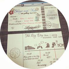 結婚式の招待状にはタイムラインも一緒に! | marry[マリー]
