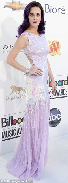 Ultra violet: Katy Perry was incredibly coordinated at the Billboard Music Awards with an entirely purple look  LOVE!