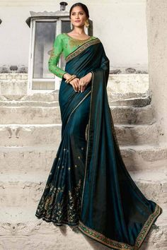 A breezy choice of hues with delicate embroidery, this silk saree collection is one of its kind. Exaggerated with zari, resham and and enchanting stone work in beautiful patterns