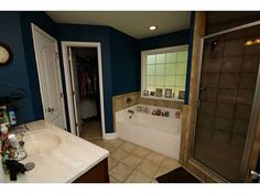 I LOVE master suites with the closet IN the ensuite bathroom.