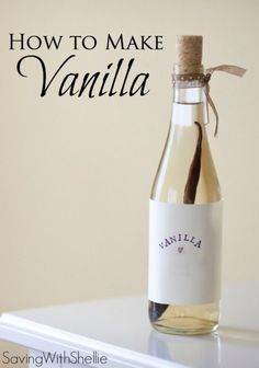 Stop buying the pricey, tiny bottles at the store and make your own vanilla. All you need are 2 ingredients. You just need Vanilla Beans and Vodka. Homemade vanilla extract is so easy and doesn't take much to get going. How To Make Homemade, Homemade Gifts, Organic Homemade, Homemade Spices, Homemade Seasonings, Homemade Food, Do It Yourself Food, Tips & Tricks, 2 Ingredients