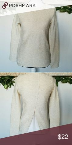 Dressy Long Sleeve Cream Shirt - XS Excellent condition!  No holes, no stains!  Smoke free home!  *NO trades.  *Same or next day shipping.  FREE GIFT WITH CLOSET PURCHASE! ONE PER PURCHASE! PLEASE, LET ME KNOW WHAT WOULD YOU LIKE TO GET! Boutique Tops Tees - Long Sleeve