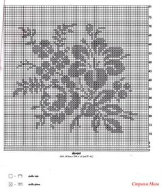 Kira scheme crochet: Scheme crochet no. Crochet Bedspread Pattern, Crochet Doily Diagram, Filet Crochet Charts, Crochet Cross, Knitting Charts, Crochet Squares, Crochet Patterns, Crochet Motif, Crochet Cushion Cover