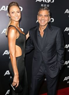 Stacy Keibler smolders in vintage #Alaia from the closets of NY Vintage.  Accompanied by George Clooney. Styled by Brad Goreski.