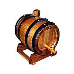 2113  - BDR002 Botte in rovere da 2 litri per invecchiamento distillati a doghe essiccate per lunga durata