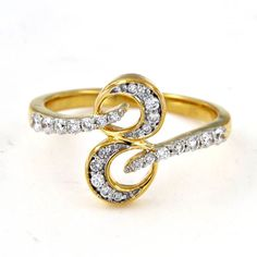 14K Yellow Gold Plated .925 Sterling Silver Round Cut White CZ Numerical 8 Ring #adorablejewelry #Numerical8Ring