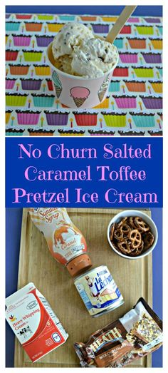 Everything you need to make No Churn Salted Caramel Toffee Pretzel Ice Cream #icecream #nochurnicecream #caramelrecipes | Ice Cream Recipes | No Churn Ice Cream Recipes | Frozen Dessert | Dessert Recipes | Toffee | Pretzels | Salted Caramel Recipes | Caramel Recipes | Summer Recipes | Easy No Bake Desserts, Easy Desserts, Delicious Desserts, Dessert Recipes, Homemade Desserts, Frozen Desserts, Pie Recipes, Caramel Recipes, Chocolate Recipes