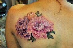 Peony tattoo love this! My wedding flower!
