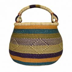 Asungtaba means helping each other succeed in Frafra language, spoken in the Northern region of Ghana.    Each of our baskets is a unique hand-made product, size may fluctuate and color combination's may vary. No two pot baskets are exactly alike which makes each one a unique work of art.