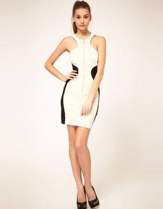 ASOS Body-Conscious Dress with Zip Front