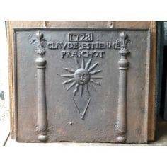 Fireback Pillars of Hercules with sun and some free mason symbols for sale at https://www.firebacks.net