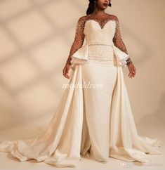 African white wedding dress with cape/African cape dress with side peplum/prom dresses/African wedding dress/African wedding dress Peplum Prom Dresses, Peplum Wedding Dress, White Wedding Dresses, Bridal Dresses, Wedding Gowns, Wedding Cape, Mermaid Dresses, Backless Wedding, African Wedding Attire