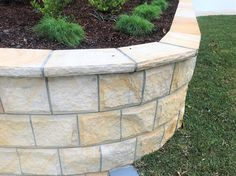 Beautiful Banded Rock face Sandstone Cladding is made from Australian Sandstone. This product highly sort after and traditionally used in many historic buildings throughout Australia.  Matching capping and corners available.  #sandstone #landscape #stone #stonework #stonemason #landacapedesign #landscapearchitect #architect #australianstone #sydneydevelopers Sandstone Cladding, Sandstone Wall, Natural Stone Wall, Natural Stones, Stone Supplier, Wall Cladding, Stone Work, Make It Simple, Garden Design