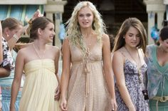 Still of Sara Paxton, Emma Roberts and Joanna 'JoJo' Levesque in Aquamarine. All three of these dresses are pretty, especially the one Sara Paxton is wearing.