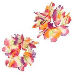 Hawaiian Summer Luau Party Fabric Serendipity Head Lei And Wristlet Set 3 Pieces #Amscan #LuauBeachParty
