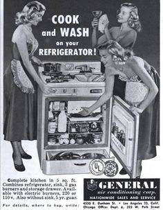 What?! They couldn't put in an oven, too? #vintage #advertisement