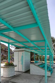 'xico-parque sur 23' emerges as urban intervention in mexican conflictive area Urban Intervention, Design Strategy, The Locals, Pergola, Mexican, Outdoor Structures, Outdoor Decor, Vibrant, Socialism