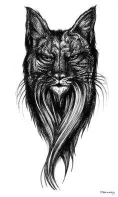 Wise Feline by Richey Beckett. This illustration is based on the Iberian Lynx