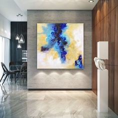 Extra Large Wall Art Original Art Bright Abstract Original Painting On Canvas Extra Large Artwork Contemporary Art Modern Home Decor Large Abstract Wall Art, Large Artwork, Extra Large Wall Art, Canvas Wall Art, Wall Art Prints, Hallway Art, Office Wall Art, Hallway Ideas, Texture Painting On Canvas