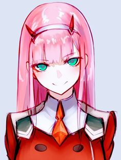 Zero Two (Darling in the FranXX) Image - Zerochan Anime Image Board Art Manga, Art Anime, Anime Art Girl, Anime Chibi, Manga Anime, Girls Manga, Desu Desu, Character Art, Character Design