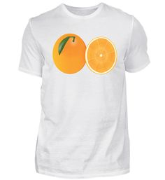 Orange Frucht T-Shirt Orange, Mens Tops, Fashion, Cotton, Moda, Fashion Styles, Fasion
