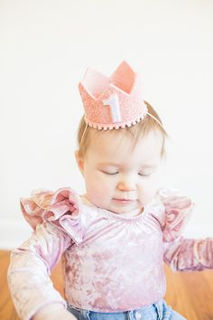 Birthday Crown Of Blush Glitter