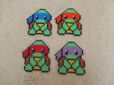 Ninja Turtles perler beads by Nesrin Yilmaz