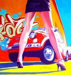 OMG - Two of my all time fav things, a red FIAT 500 and Italian Shoes! What could be better?